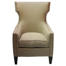 Bascombe Euro Burlap Armchair by Darby Home Co®
