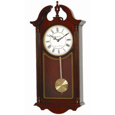 Mahogany Wood Pendulum Wall Clock