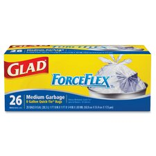 Glad ForceFlex Quick-Tie 8-Gal. Trash Bags, 26 Count