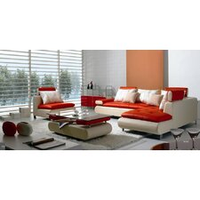 Adrianne 4 Piece Leather Sectional Sofa Set  by Wade Logan®
