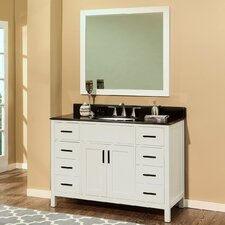 Arezzo 48 Single Bathroom Vanity with Mirror by NGY Stone & Cabinet