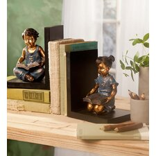 Seated Children Bookends (Set of 2)