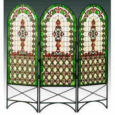 58 x 60 Quatrefoil Classical 3 Panel Room Divider by Meyda Tiffany