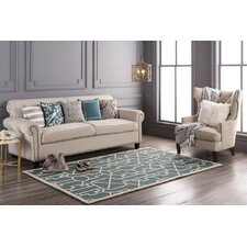 Marigold Leighton Hand-Crafted Teal Area Rug