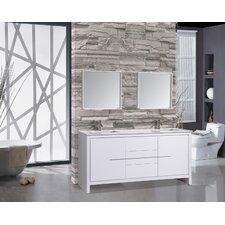 Cypress 72 Double Modern Bathroom Vanity Set with Mirrors by MTD Vanities