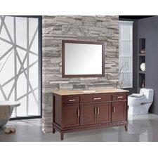 Sierra 59.8 Single Bathroom Vanity Set with Mirror and Faucet by MTD Vanities