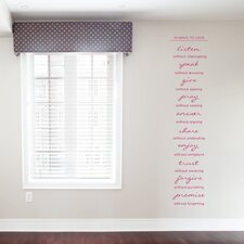 10 Ways To Love Wall Decal