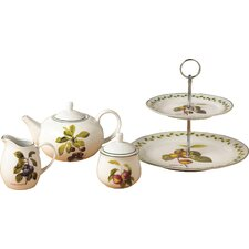 Orchard Fruit 4 Piece Porcelain Tea Set