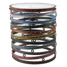 Bicycle Wheel Drum End Table