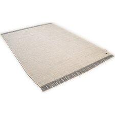 Handgewebter Baumwolle Teppich Cotton Colors in Weiß