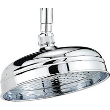 Traditional 20cm Round Fixed Shower Head with Swivel Joint