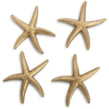 4 Piece Starfish Leaf Wall Decor Set