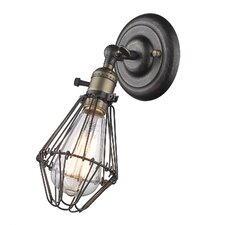 Industrial Metal 1-Light Armed Sconce