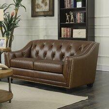 Elnora Leather Loveseat