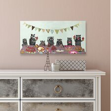 'Cupcake Party' by Eli Halpin Canvas Art