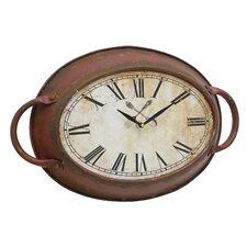 Stonebriar Metal Oval Wall Clock