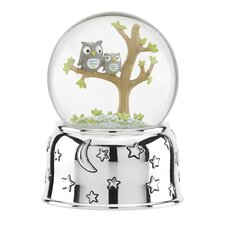Hazelnut Hollow Owl Musical Water Globe