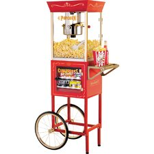 Smart Retro Popcorn Cart with Concession Stand