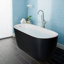 "Lullaby Solid Surface 55"" x 24"" Freestanding Soaking Bathtub"