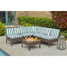 Monticello 6 Piece Sectional Seating Group with Cushion by Breakwater Bay