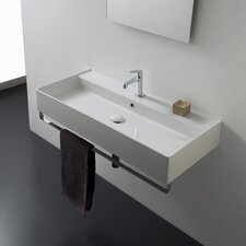 Teorema 47 Wall Mounted Bathroom Sink with Overflow by Scarabeo by Nameeks