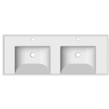 ML Double 48 Console Bathroom Sink with Overflow by Scarabeo by Nameeks