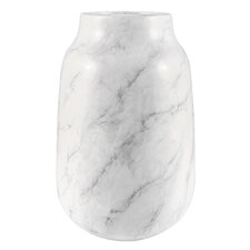 White Faux Marble Table Vase