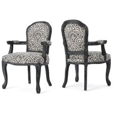 Kaufman Fabric Armchair (Set of 2) by World Menagerie