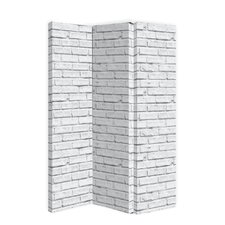 59 x 47 Brick 3 Panel Room Divider by Arthouse