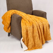 Clare Faux Fur and Sherpa Throw Blanket