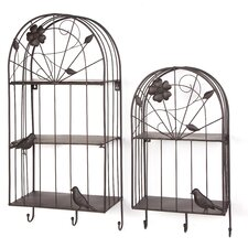 Birdcage 2 Piece Accent Shelf Set