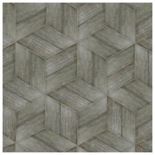 "Rama 7.13"" x 16.68"" Porcelain Wood Look Floor and Wall Tile in Cendra"