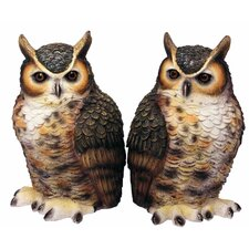 Great Horned Owl Bookends (Set of 2)
