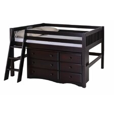 Isabelle Low Loft Bed with Storage by Viv + Rae