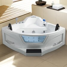 Ariel 61 x 61 Whirlpool Bathtub by Ariel Bath