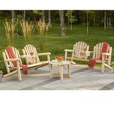 Cedar Premium 3 Piece Adirondack Seating Group