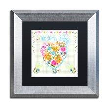 Love Heart' Framed Graphic Art Print by Trademark Fine Art