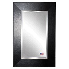 Rectangle Wide Leather Wall Mirror