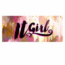 'It Girl-Black And Pink' Textual Art on Metal