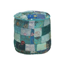 Vivian Embroidered Round Pouf by Bungalow Rose