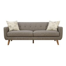 Mid Century Modern Sofa with accent pillows