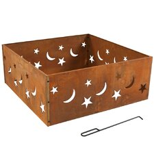 Rustic Stars and Moons Steel Wood Fire Ring by SunnyDaze Decor