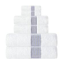 Elegante Turkish Cotton 6 Piece Towel Set