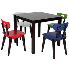 Mid-Century Kids 5 Piece Square Table and Chair Set by Max & Lily