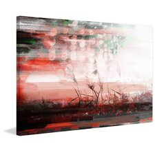 'Red Sun Drops' by Parvez Taj Painting Print on Wrapped Canvas