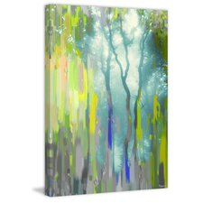 'Painted Tree Forest' by Parvez Taj Painting Print on Wrapped Canvas