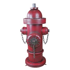 Vintage Metal Fire Hydrant Statue