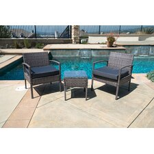 3 Piece Lounge Seating Group with Cushions