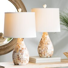 "Eskridge Mother of Pearl Inlay 19.25"" Table Lamp (Set of 2)"