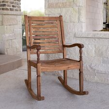 Rosa Solid Acacia Wood Patio Rocking Chair